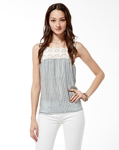 Irving & Fine Crochet Tank Top