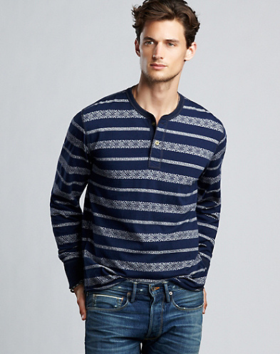 Jacquard Henley*