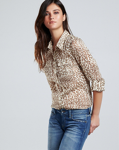 Jane Animal Print Blouse*
