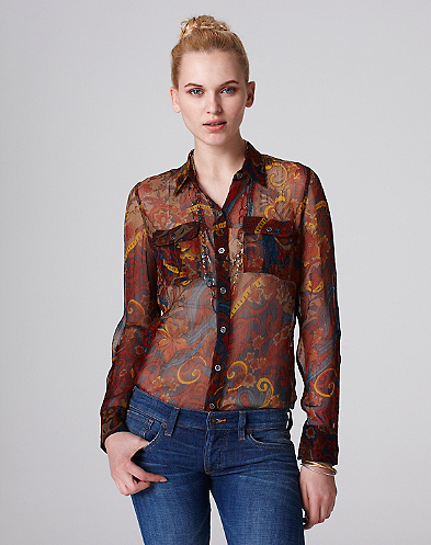 Joan Carnival Paisley Top