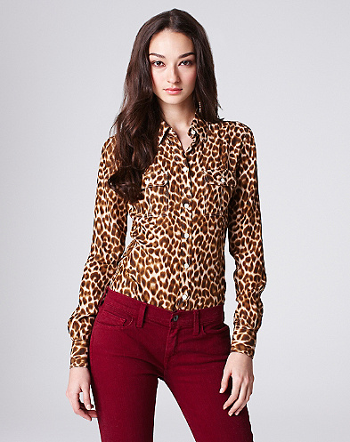 Joan Cheetah Blouse