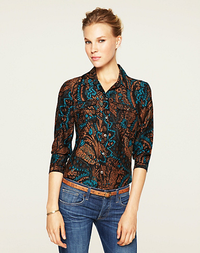 Joan Exploded Damask Blouse