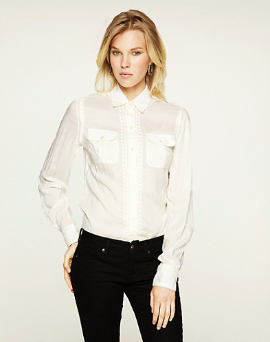 Joan French Knot Silk Blouse