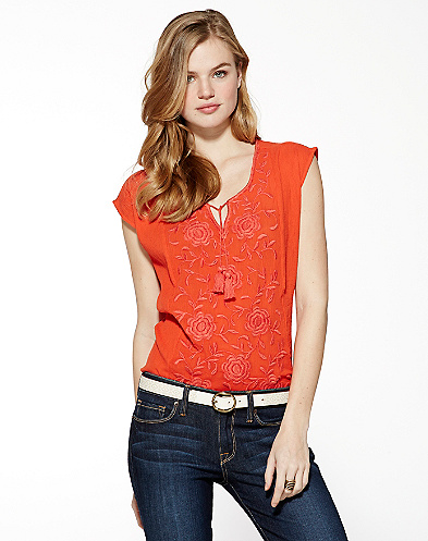 Juniper Embroidered Floral Top