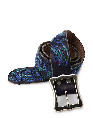 Karina Paisley Embroidered Belt