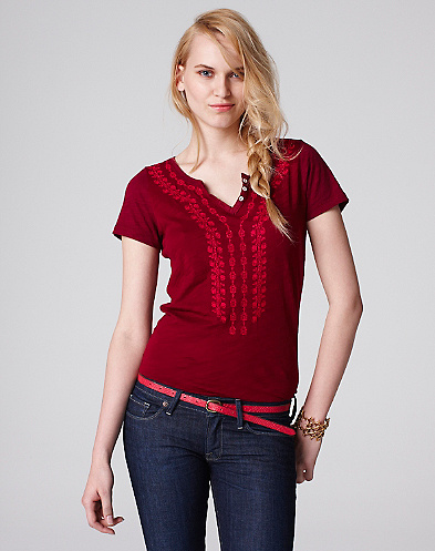 Kristin Embroidered T-Shirt*