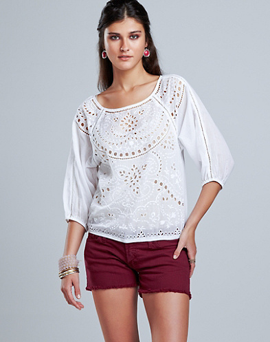 Lace Cutout Top*