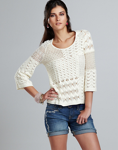 Lace Patchwork Sweater*