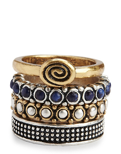 Lapis Stacked Ring Set