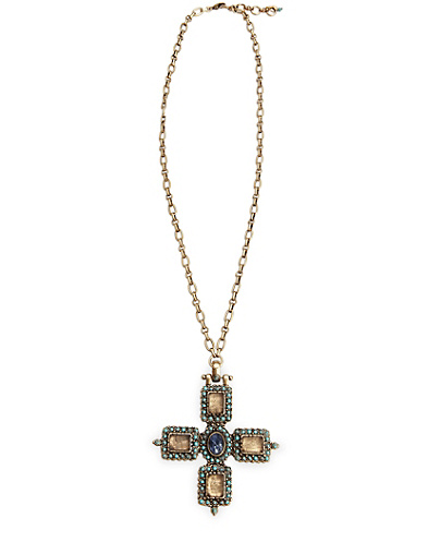 Lapis Turkish Cross Necklace*