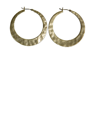 Large Twisted Hoop Earrings*