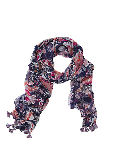 Leah Large Crinkle Scarf*
