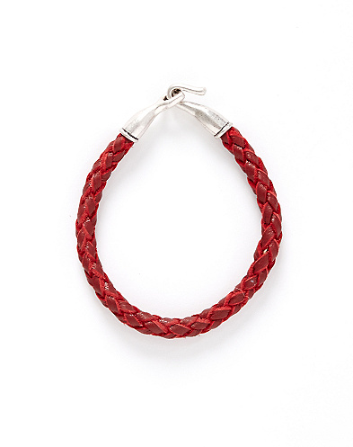 Leather Braided Hook Bracelet