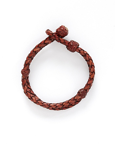 Leather Branded Double Layer Bracelet