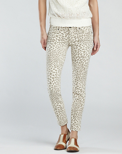 Legend Animal Print Charlie Capri Jeans*