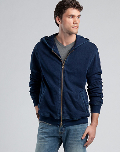 Legend Indigo Terry Zip Hoodie*