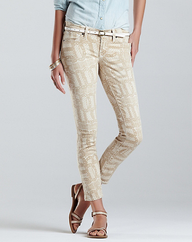 Legend Lace Print Charlie Skinny Jeans*