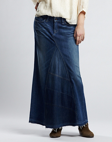 Legend Patched Maxi Skirt*
