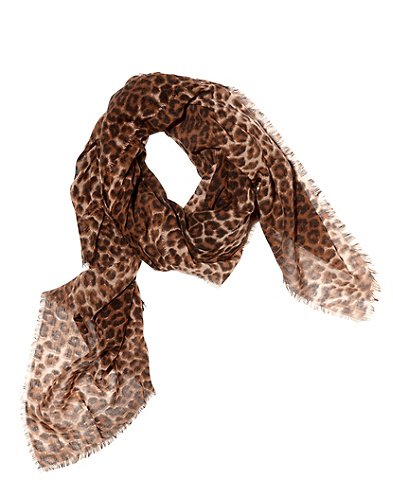 Lela Graduated Leopard Print Scarf