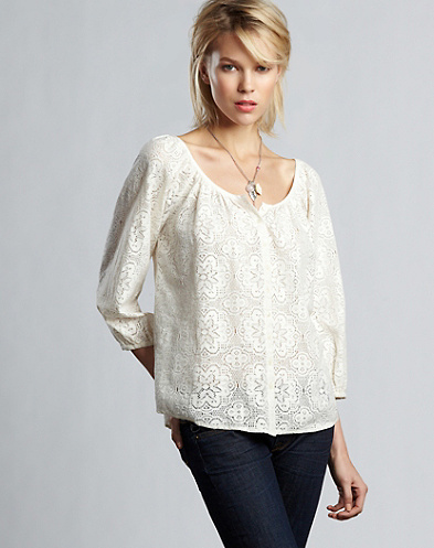 Lizzie Floral Lace Top*