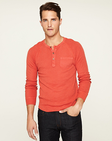 Long Sleeve Box Stitch Henley