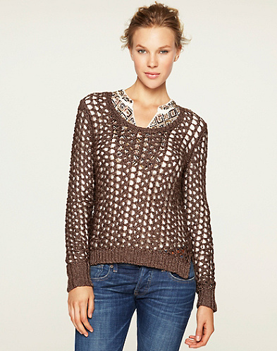 Macey Metallic Sweater