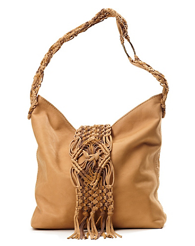 Macrame Fringe Hobo Bag*