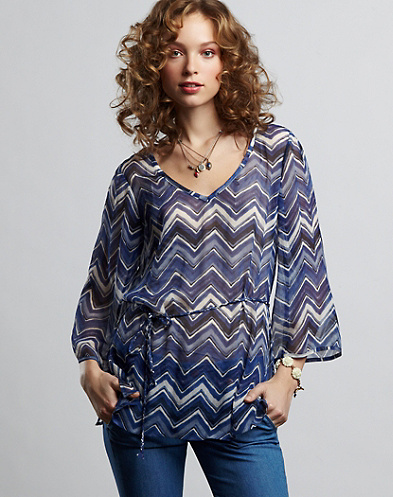Marley Chevron Printed Top*