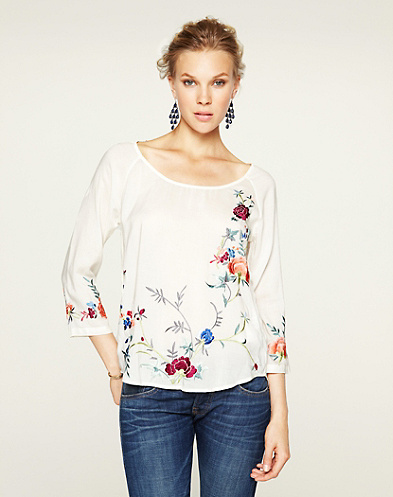 Maryam Embroidered Floral T-Shirt
