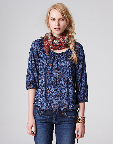McGraw Indian Flowers Top