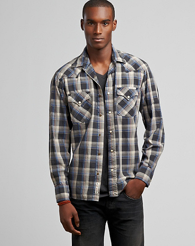 Mendocino Plaid Western Shirt*