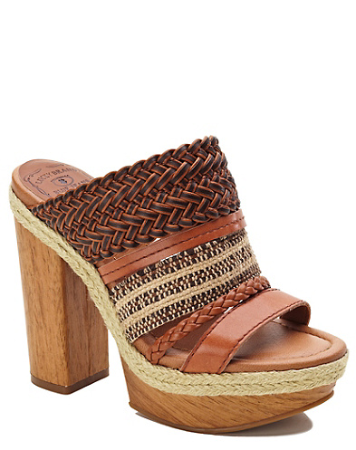 Mika Woven-Leather Heels*