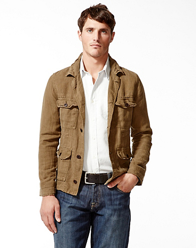 Military Linen Jacket