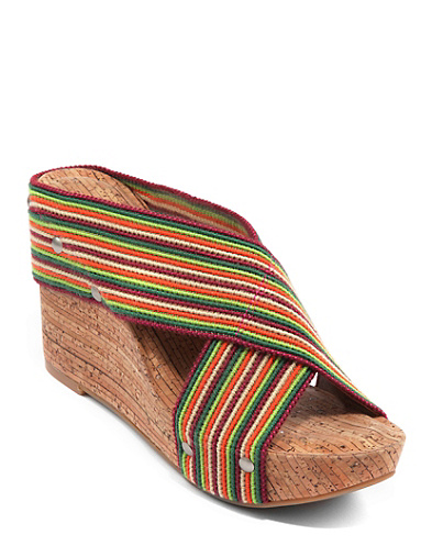 Miller Linen Strap Wedges