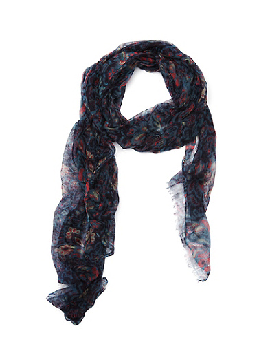 Milton Tissue Weight Floral Scarf