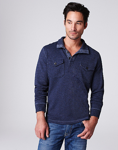 Mock Neck Henley*