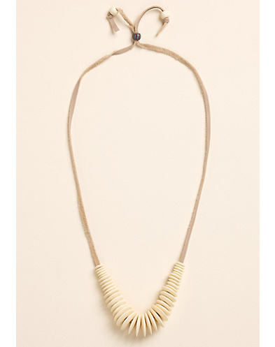 Multi Disc Bone Necklace*
