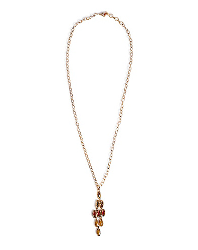 Multi Stone Chandelier Necklace