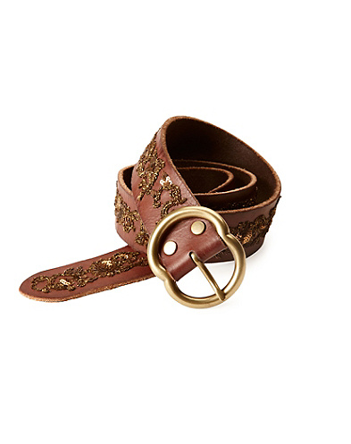 Nadya Floral Metallic Embroidery Belt