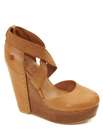 Nana Leather-Covered Wedges