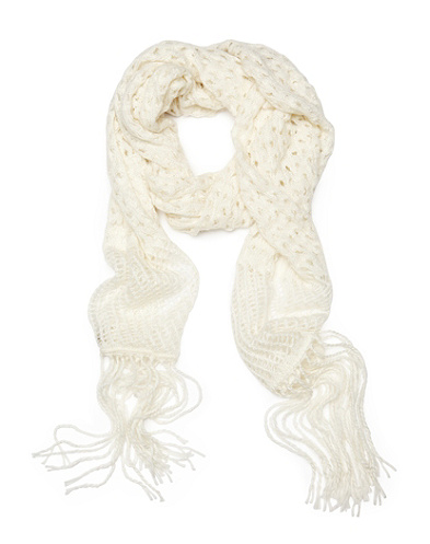 Nataliya Openwork Crochet Scarf