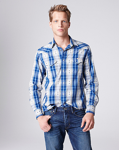Nickel String Plaid Western Shirt*