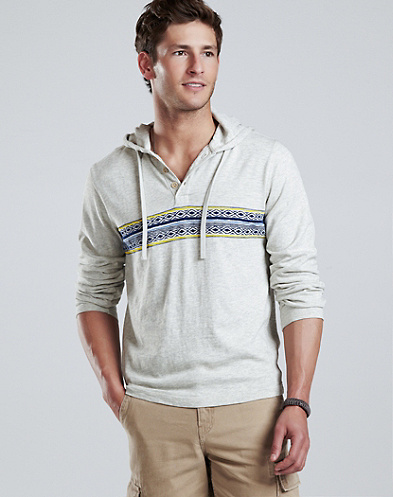Novel Hooded Henley*