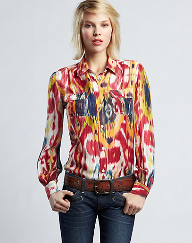 Olivia Ikat Blouse*