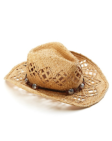 Openwork Straw Cowboy Hat*