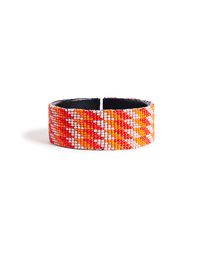 Orange Multi Seed Bead Bracelet