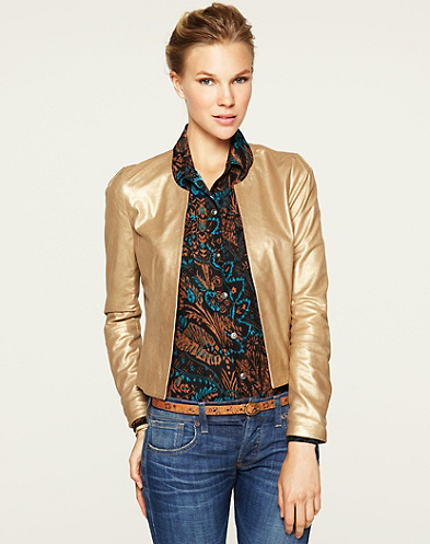 Orient Express Gold Suede Jacket*