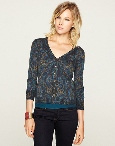 Oriental Rug Cardigan*
