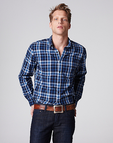 Overcrest Plaid One-Pocket Shirt