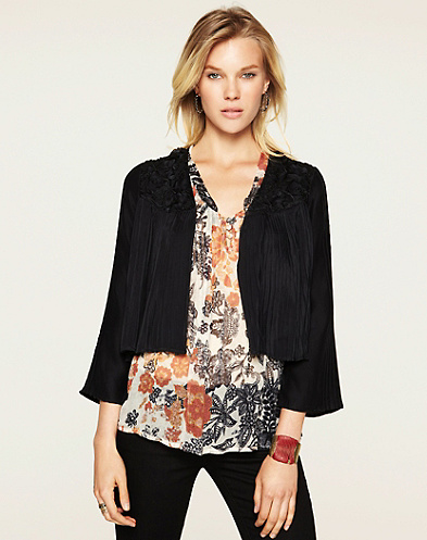 Pagoda Pleated Jacket*
